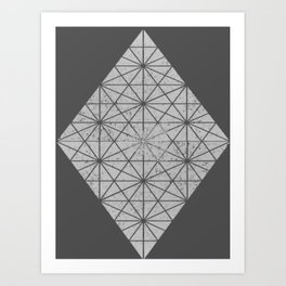 gray triangles Art Print