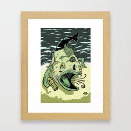 Something Fishy this way Comes Framed Art Print