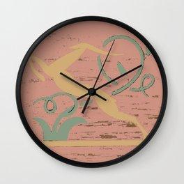 Deco Deer Wall Clock