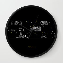 Seoul cityscape Korea Republic of graphics design Wall Clock