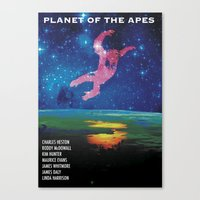 planet of the apes Canvas Prints featuring Planet of the Apes alt. by KevinACArter