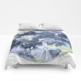 Full Moon Watercolor Comforters