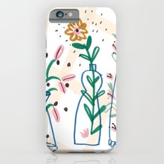 Flowers. Vase, illustration, art, print, pattern, nature, floral, still life, Slim Case iPhone 6s