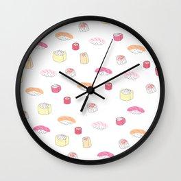 Pink Sushi Wall Clock