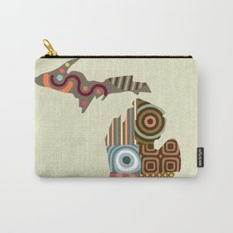 Michigan State Map Carry-All Pouch