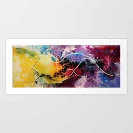 Harmony colourful  abstract artwork Art Print