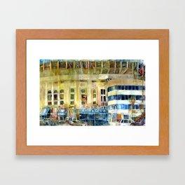 The Old Yankee Stadium Watercolor Framed Art Print