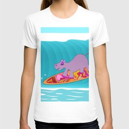 Just Like Momma - Hippos Surfing T-shirt