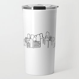 San Francisco Skyline Drawing Travel Mug