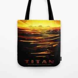 Titan : NASA Retro Solar System Travel Posters Tote Bag