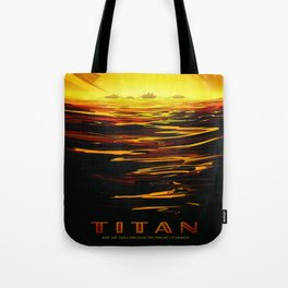 Titan : NASA Retro Solar System Travel Posters Tote Bag