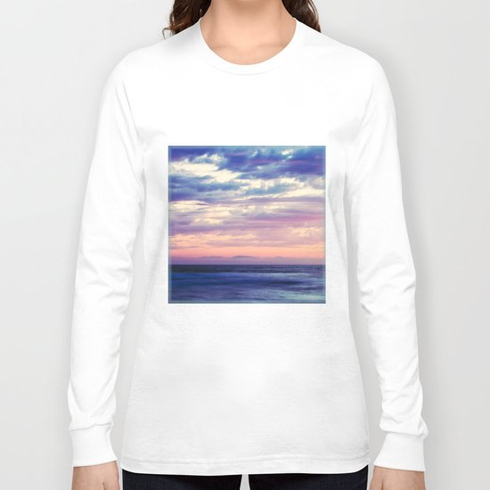 blue and pink Long Sleeve T-shirt