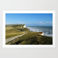 Birling Gap Art Print