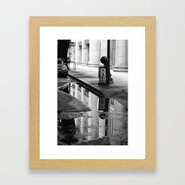 Streets Noir Framed Art Print