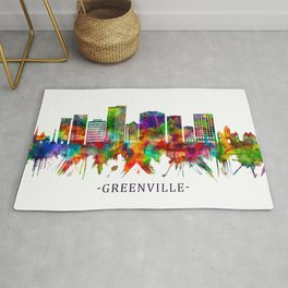 Greenville South Carolina Skyline Rug