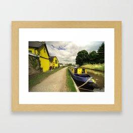 The Wharf at Gilwern  Framed Art Print