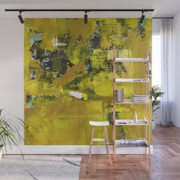 Waiter Yellow Abstract Modern Art Painting Wall Mural
