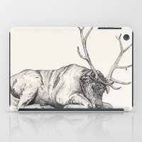 stag iPad Cases featuring Stag // Graphite by Sandra Dieckmann