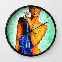 Bellaseussa - beauty with violin Wall Clock