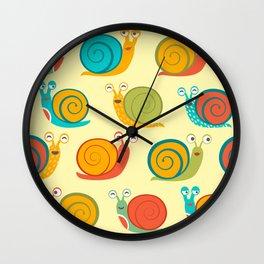 Happy snails Wall Clock