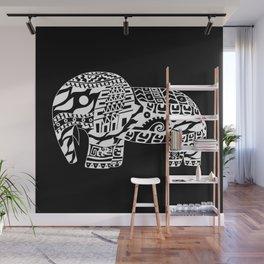 black elephant ecopop Wall Mural