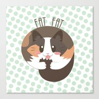 fat Canvas Prints featuring Fat Fat by Astrobunny