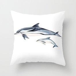 Striped dolphin Throw Pillow