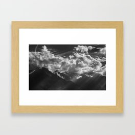 Between Rays Framed Art Print