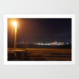 Pier View Art Print