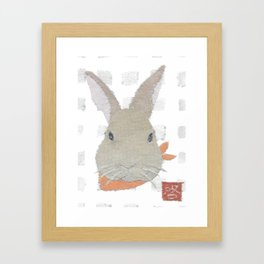 Bunny, Rabbit, Brown, Modern Framed Art Print