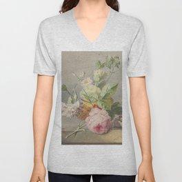 Georgius Jacobus Johannes van Os - Flower arrangement - 1800/1825 Unisex V-Neck