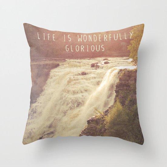 wonderful waterfalls Throw Pillow