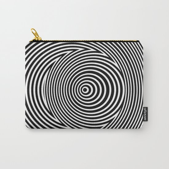 Black and White Dizzy Carry-All Pouch