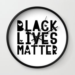 Black Lives Matter Heart Wall Clock