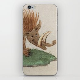 Medieval wild boar or warthog iPhone Skin