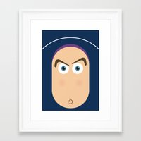 buzz lightyear Framed Art Prints featuring PIXAR CHARACTER POSTER - Buzz Lightyear - Toy Story by Marco Calignano