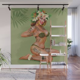 Metro&medio Designs - Animal print and flowers pin-up Wall Mural