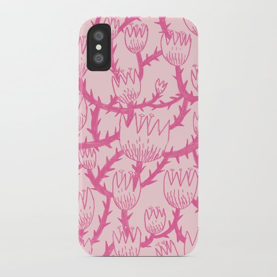 Pink Thorn iPhone Case