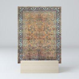 Kashan Floral Persian Carpet Print Mini Art Print