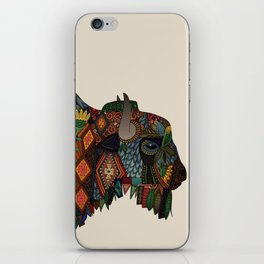 bison bone beige iPhone Skin
