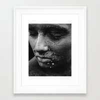 cracked Framed Art Prints featuring cracked by deepinswim