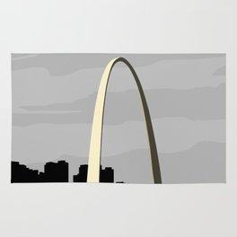 Gateway Arch Modern Architecture Rug