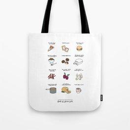 Foods of Gilmore Girls Tote Bag