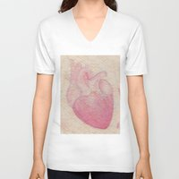 valentine V-neck T-shirts featuring Valentine by Soldiers in Petticoats Press