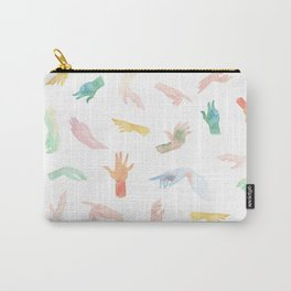 Watercolor Hands Pattern Carry-All Pouch