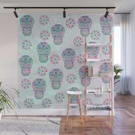 Marbled Sugar Skulls Wall Mural