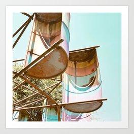 Rainbow Barrels Art Print