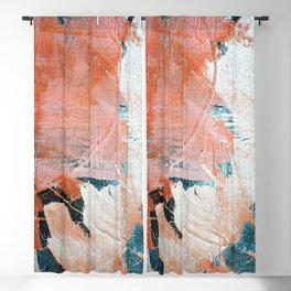 Interrupt [2]: a pretty minimal abstract acrylic piece in pink white and blue by Alyssa Hamilton Art Blackout Curtain