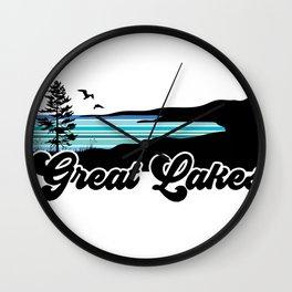 Great Lakes Coast Wall Clock