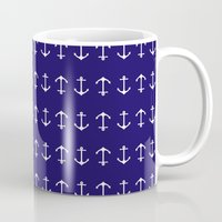 anchors Mugs featuring Anchors by AleDan
